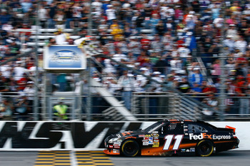 Denny Hamlin has captured the Martinsville checkers on four different occasions.