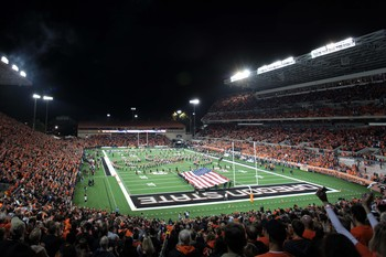 Reser Stadium, the home of Oregon State football, and the site of this game.