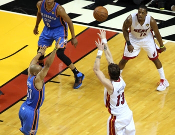 Pretty soon, Mike Miller should be shooting for the Thunder in the NBA Finals, rather than against them.