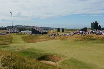 Conditions were hard and fast at Muirfield on Thursday.