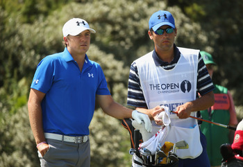 Jordan Spieth shot a two-under 69 on Thursday at Muirfield.