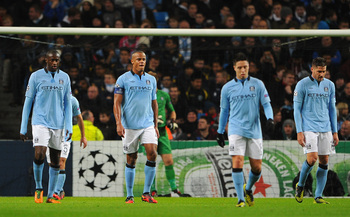 Manchester City failed to advance past the group stages of the Champions League last season.
