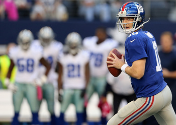 What will Eli Manning and the Giants have in store at Cowboys Stadium?