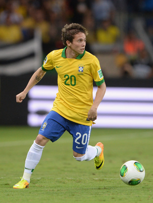 Bernard in action at the Confederations Cup.