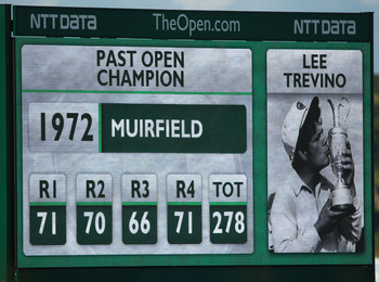 Lee Trevino was an Open champion at Muirfield in 1972.