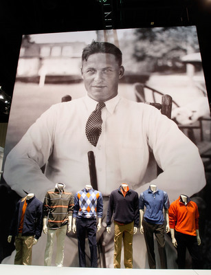 An image of Bobby Jones behind his signature apparel
