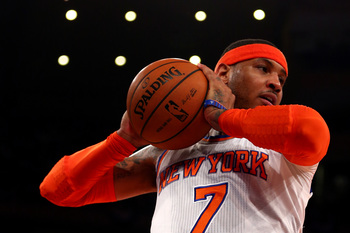 Carmelo Anthony of the New York Knicks