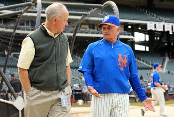 Mets general manager Sandy Alderson and manager Terry Collins