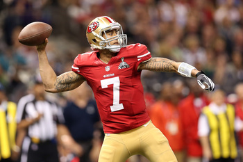 Colin Kaepernick can make big plays with his arm and his legs.