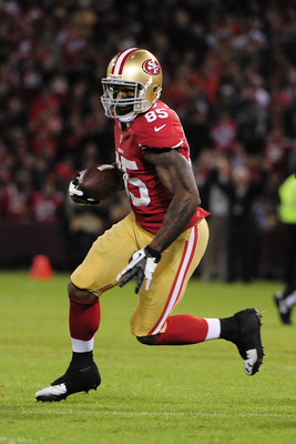 Vernon Davis had only 41 receptions in 2012.
