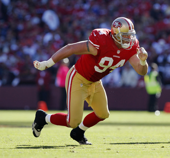 Justin Smith returns healthy for the 2013 season.