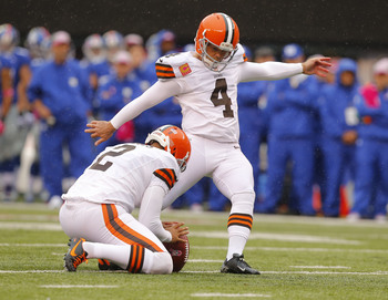 Former Cleveland kicker Phil Dawson replaces David Akers.