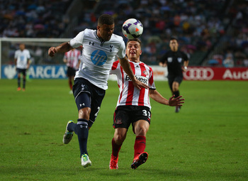 Kyle Walker in action against Sunderland.