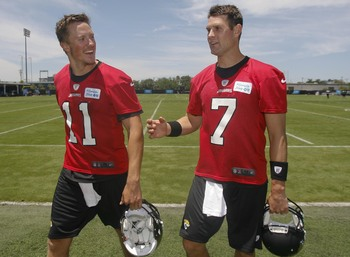 Gabbert and Henne will battle for the right to lead the Jaguars in 2013.