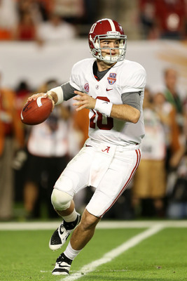 Alabama senior quarterback AJ McCarron.
