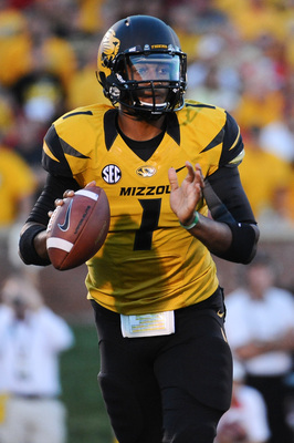 Missouri senior quarterback James Franklin.