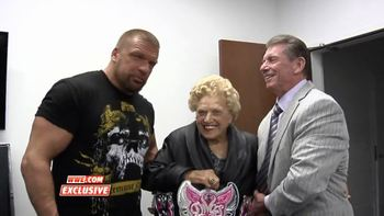 Is Mae Young secretly in charge? (photo via 24wrestling.com)