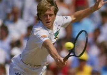 Stefan Edberg urges himself on.