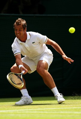 Richard Gasquet digs for the win, Wimbledon