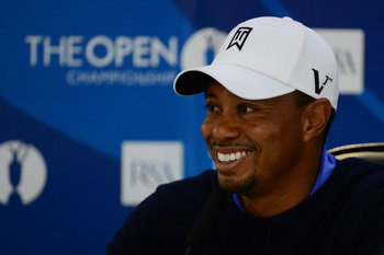 Tiger Woods smiled a lot more at the British Open in 2000 than he did anytime recently.