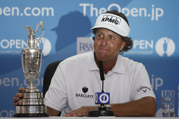 Phil Mickelson was all smiles after his first British Open victory.