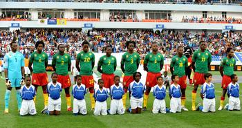 ANGOLA, LUBANGO - JANUARY 21:  Cameroon team photo before the Africa Cup of Nations match between Cameroon and Tunisia from the Alto da Chela Stadium on January 21, 2010 in Lubango, Angola. (Photo by Lefty Shivambu/Gallo Images)