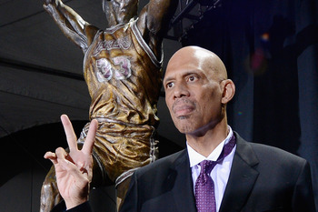 Arguably the greatest center ever, Kareem tops the list with ease.