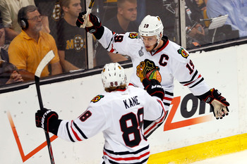 Patrick Kane and Jonathan Toews did not produce offensively in the playoffs until they were put on the same line.