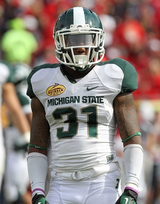 Michigan State senior cornerback Darqueze Dennard.