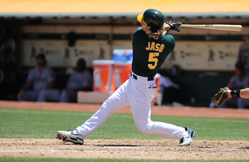 Jaso has been what the A's expected thus far.