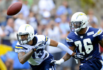 Keenan Allen (13) apparently had two consecutive dropped passes.