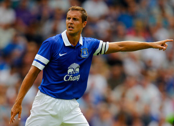 Phil Jagielka in preseason action.