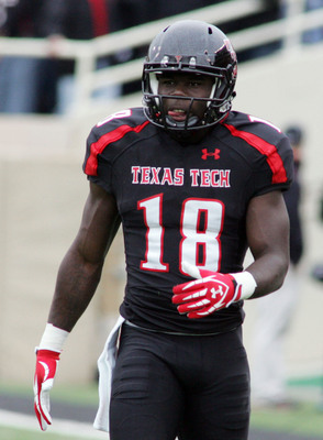 Texas Tech senior wide receiver Eric Ward