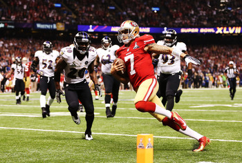 Colin Kaepernick is an excellent runner and passer.