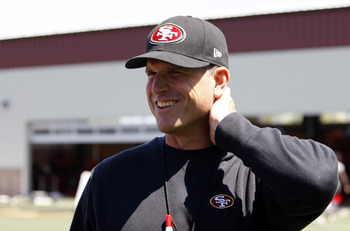 Head coach Jim Harbaugh hopes to lead the 49ers back to the Super Bowl...with a different outcome this time around.