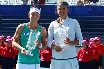 Samantha Stosur and Victoria Azarenka.