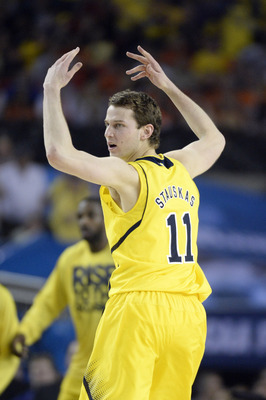 Nik Stauskas is only one of two proven three-point shooters on Michigan's roster right now.