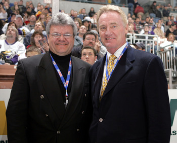 Dionne (left) at the 2005 AHL skills competition.
