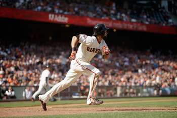 Angel Pagan hit an inside-the-park home run to beat Colorado, but was injured in the process.