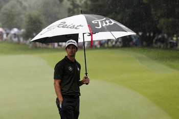 It wasn't all sunshine and rainbows, but Adam Scott played well Friday.
