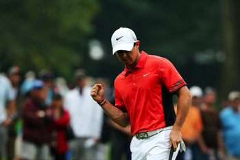 Rory McIlroy played well enough on Friday for a few fist pumps.