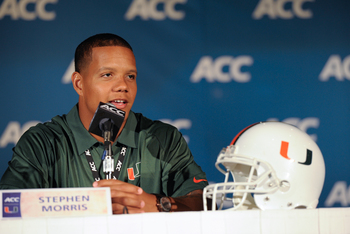 Morris represented the 'Canes at ACC media day.