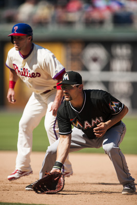 Thus far, Casey Kotchman, right, has played in just six games for the Marlins this season. Chances are he won't return in 2014.