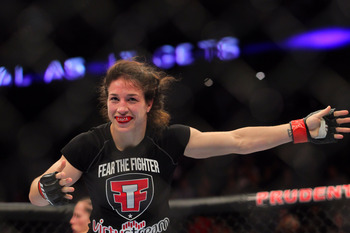 McMann was slated for a major fight with Sarah Kaufmann, but inexplicably withdrew weeks ago.