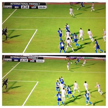 Bosnia's second goal was clearly offside