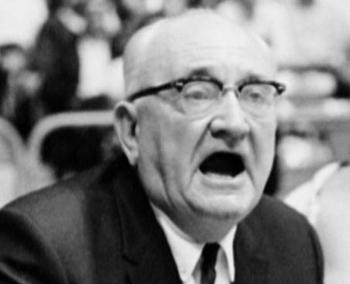 Adolph Rupp's legacy is often debated due to the racial tensions at the time of his coaching career. Photo courtesy of USA Today.