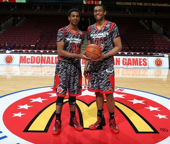 Duke adds two McDonald's All-Americans this year, Matt Jones (left) and Jabari Parker (right).