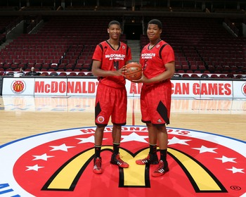 Roy Williams signed two McDonald's All-Americans, Isaiah Hicks (left) and Kennedy Meeks (right).