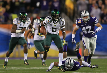 De'Anthony Thomas took the opening kickoff of the Fiesta Bowl to the house
