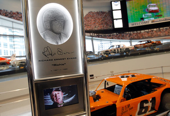 Richie Evans' No. 61 is on display at the NASCAR Hall of Fame. Evans clinched his ninth Modified championship before he was killed in a practice crash at Martinsville Speedway.